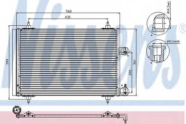 Конденсатор кондиционера NISSENS 94560 - изображение
