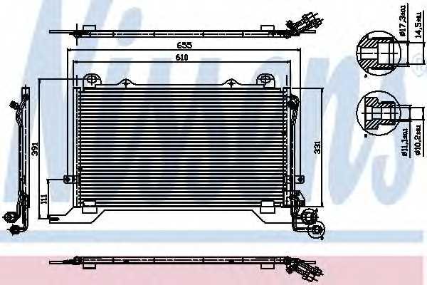 Конденсатор кондиционера NISSENS 94567 - изображение