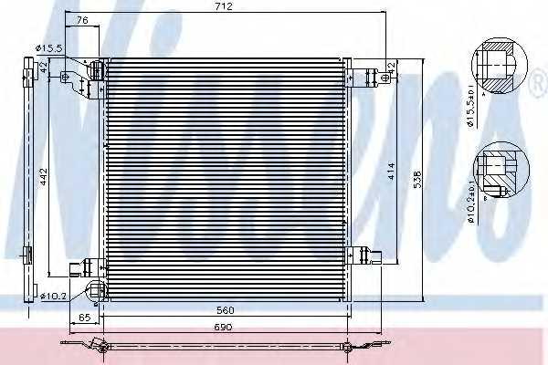 Конденсатор кондиционера NISSENS 94568 - изображение