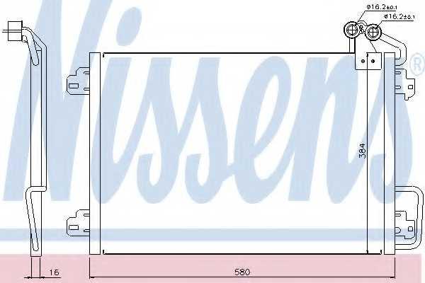 Конденсатор кондиционера NISSENS 94572 - изображение