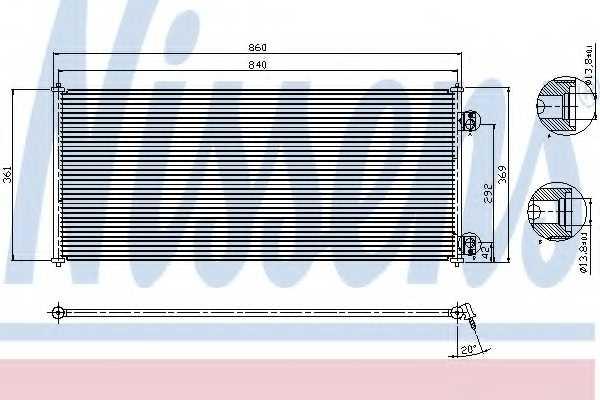 Конденсатор кондиционера NISSENS 94577 - изображение