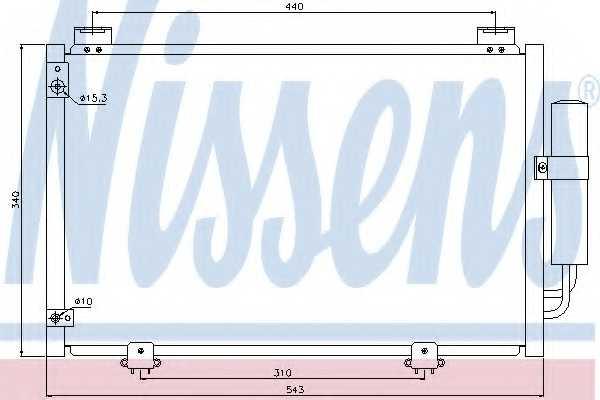Конденсатор кондиционера NISSENS 94581 - изображение