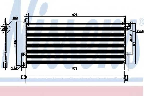 Конденсатор кондиционера NISSENS 94582 - изображение