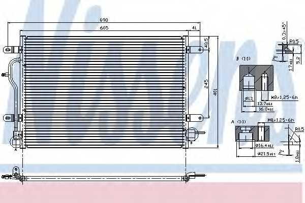 Конденсатор кондиционера NISSENS 94583 - изображение