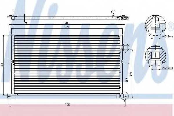 Конденсатор кондиционера NISSENS 94586 - изображение