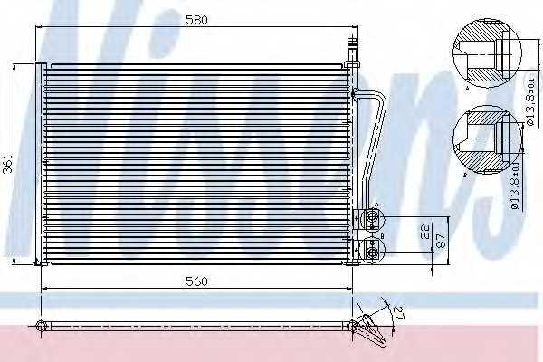 Конденсатор кондиционера NISSENS 94587 - изображение