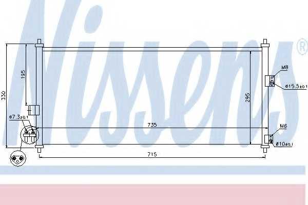 Конденсатор кондиционера NISSENS 94589 - изображение