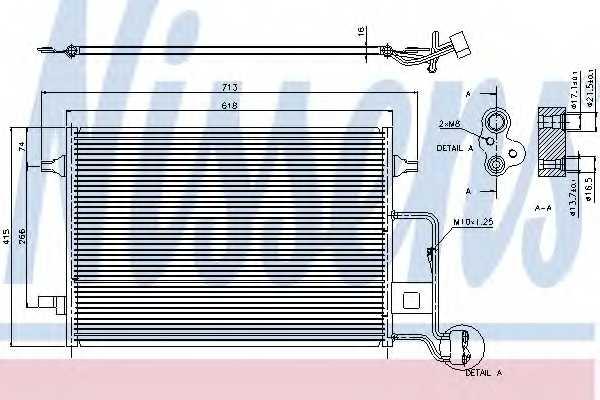 Конденсатор кондиционера NISSENS 94592 - изображение