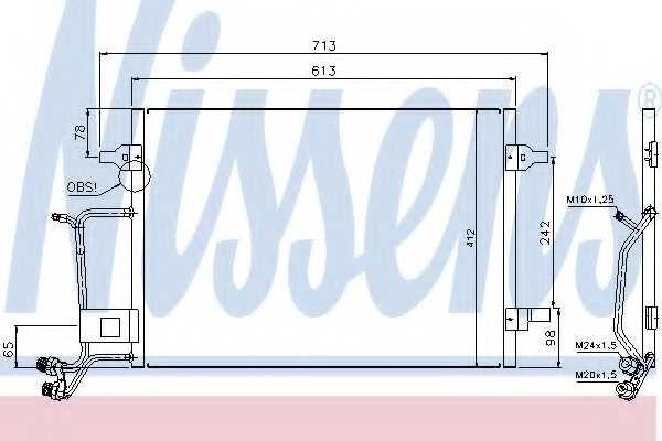 Конденсатор кондиционера NISSENS 94593 - изображение