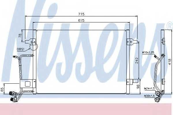 Конденсатор кондиционера NISSENS 94594 - изображение