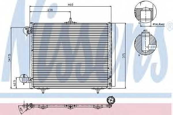 Конденсатор кондиционера NISSENS 94595 - изображение