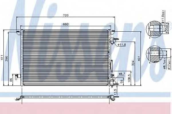 Конденсатор кондиционера NISSENS 94597 - изображение