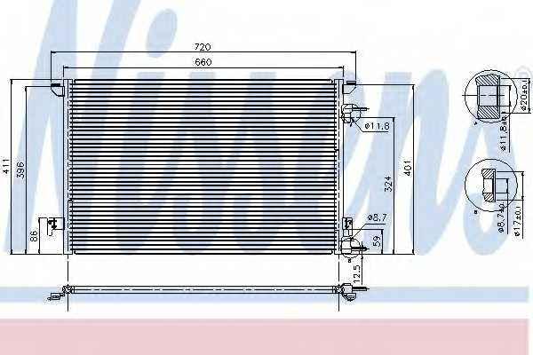 Конденсатор кондиционера NISSENS 94598 - изображение