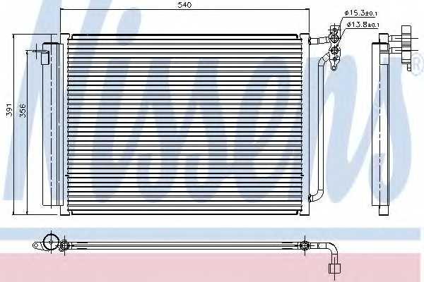 Конденсатор кондиционера NISSENS 94605 - изображение