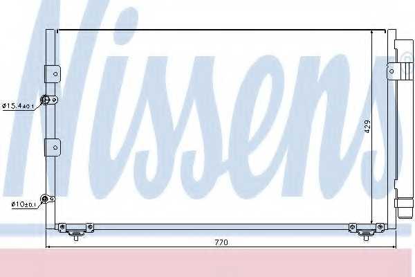 Конденсатор кондиционера NISSENS 94608 - изображение