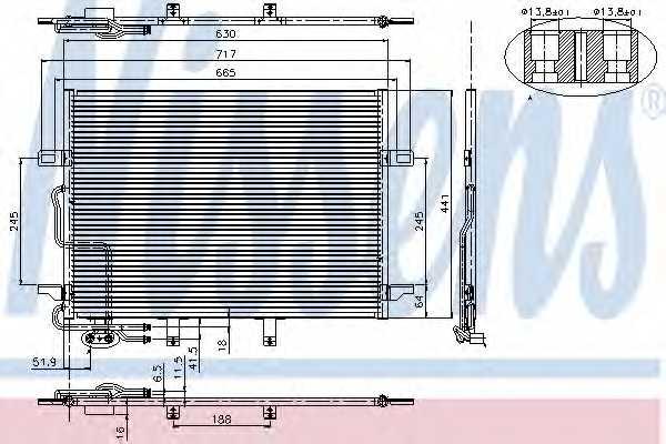 Конденсатор кондиционера NISSENS 94614 - изображение