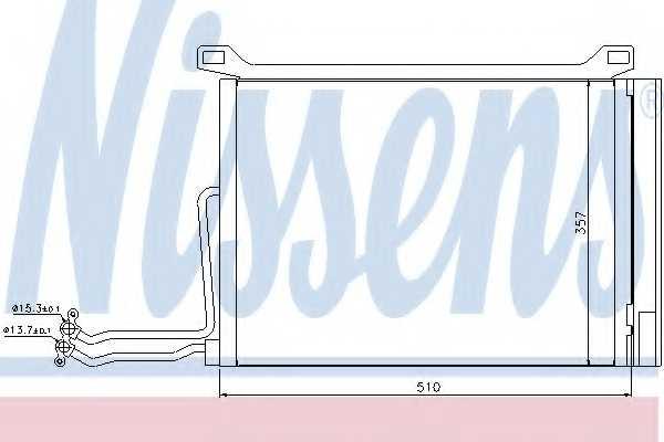 Конденсатор кондиционера NISSENS 94615 - изображение