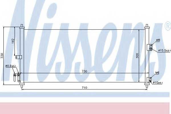 Конденсатор кондиционера NISSENS 94616 - изображение