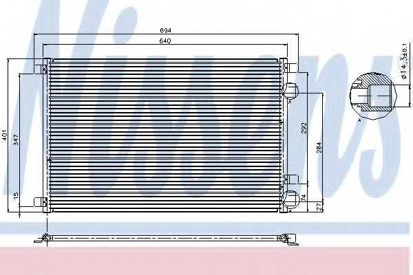 Конденсатор кондиционера NISSENS 94626 - изображение