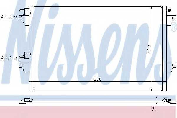 Конденсатор кондиционера NISSENS 94627 - изображение
