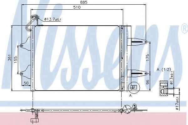 Конденсатор кондиционера NISSENS 94628 - изображение