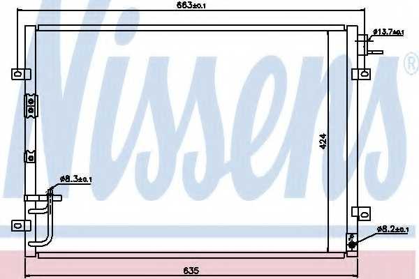 Конденсатор кондиционера NISSENS 94636 - изображение
