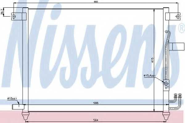 Конденсатор кондиционера NISSENS 94641 - изображение