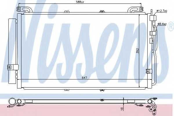 Конденсатор кондиционера NISSENS 94644 - изображение