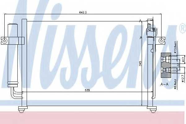Конденсатор кондиционера NISSENS 94646 - изображение
