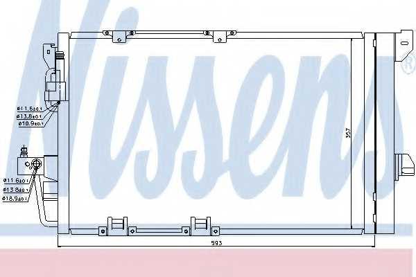 Конденсатор кондиционера NISSENS 94650 - изображение