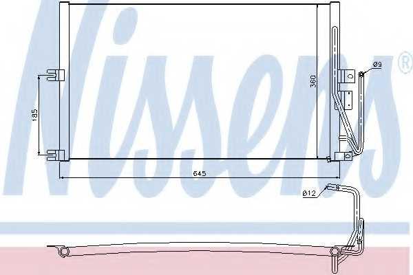 Конденсатор кондиционера NISSENS 94653 - изображение