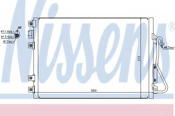 Конденсатор кондиционера NISSENS 94657 - изображение