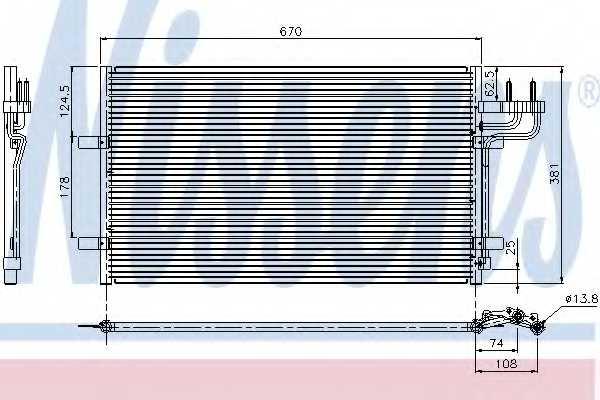 Конденсатор кондиционера NISSENS 94663 - изображение