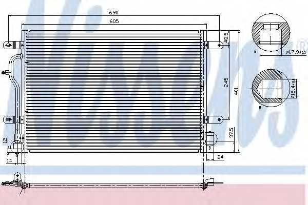 Конденсатор кондиционера NISSENS 94665 - изображение