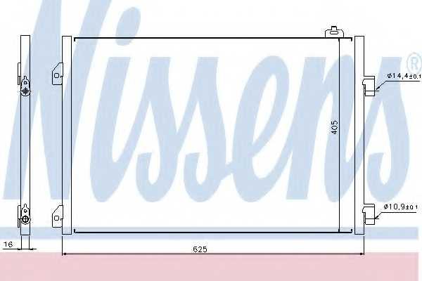 Конденсатор кондиционера NISSENS 94668 - изображение