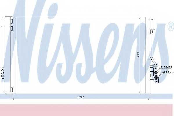 Конденсатор кондиционера NISSENS 94674 - изображение