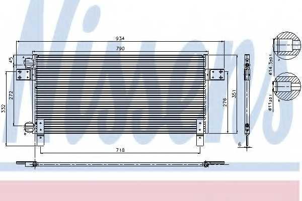 Конденсатор кондиционера NISSENS 94681 - изображение