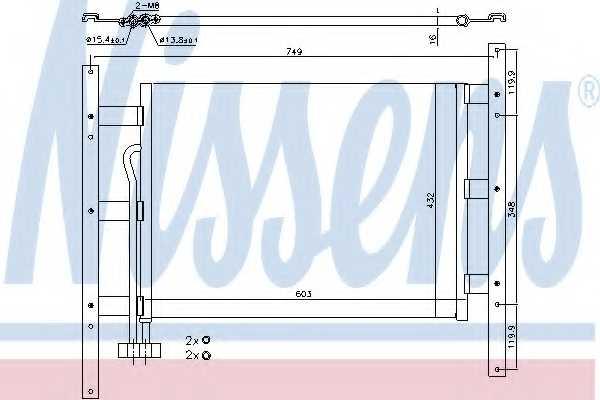 Конденсатор кондиционера NISSENS 94682 - изображение