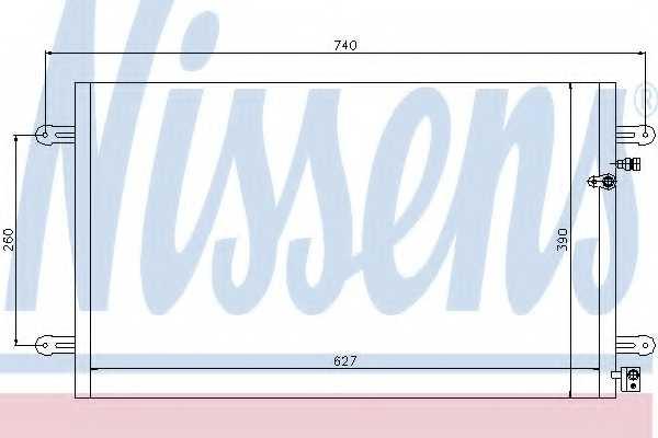 Конденсатор кондиционера NISSENS 94695 - изображение