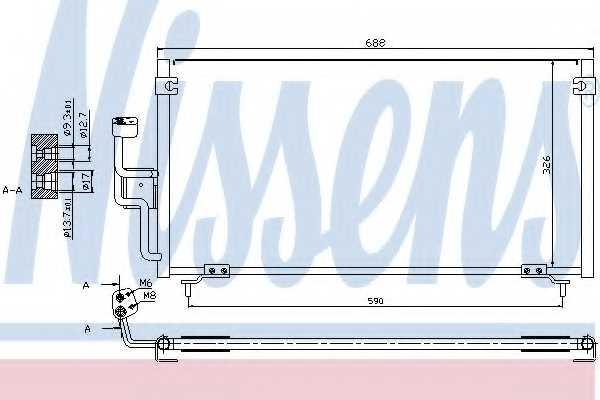 Конденсатор кондиционера NISSENS 94702 - изображение