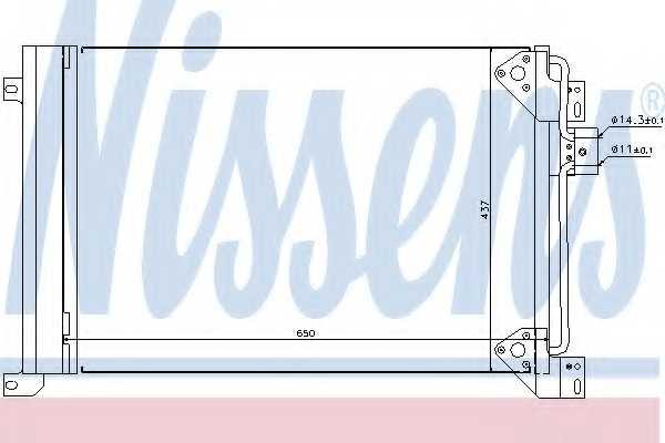 Конденсатор кондиционера NISSENS 94713 - изображение