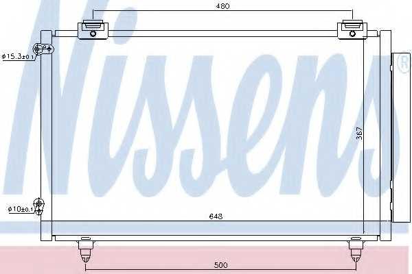 Конденсатор кондиционера NISSENS 94719 - изображение