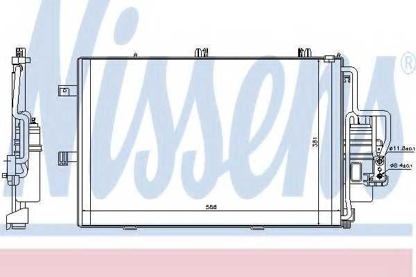 Конденсатор кондиционера NISSENS 94721 - изображение