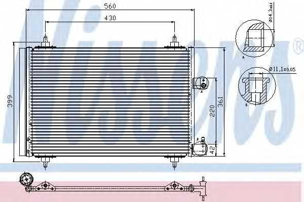 Конденсатор кондиционера NISSENS 94723 - изображение
