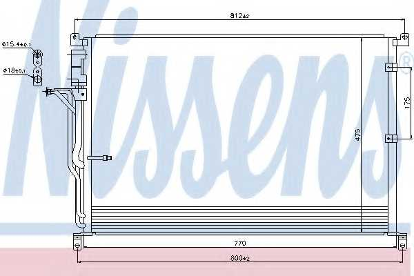Конденсатор кондиционера NISSENS 94724 - изображение