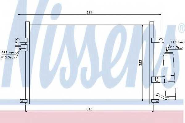 Конденсатор кондиционера NISSENS 94725 - изображение