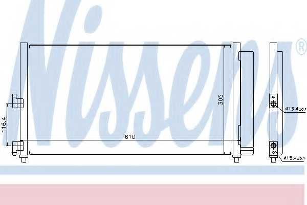 Конденсатор кондиционера NISSENS 94727 - изображение