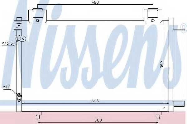 Конденсатор кондиционера NISSENS 94730 - изображение