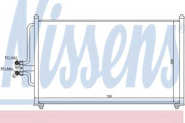 Конденсатор кондиционера NISSENS 94731 - изображение