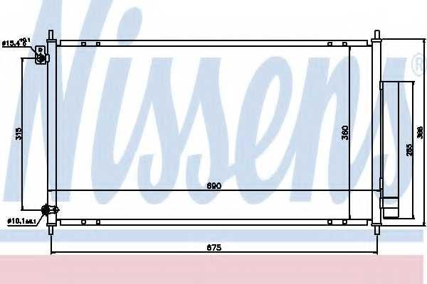 Конденсатор кондиционера NISSENS 94732 - изображение
